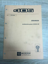 Werkstatthandbuch Peugeot 405 - Bremsen ABS Bosch 2E Antiblockiersystem