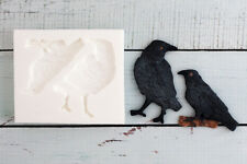 Silicone Mould, Halloween Gothic Ravens,Crows, Rooks, Ellam Sugarcraft  M189