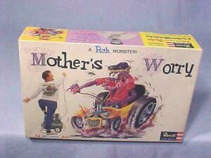 1963 Original REVELL Ed Big Daddy Roth MOTHER'S WORRY H-1302-1.00 NOS MINTY RARE