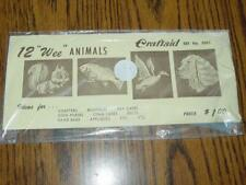 Vintage Craftaid Set #5001 - Leather Craft Template : 12 Wee Animals (New)