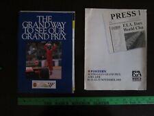 Australian Grand Prix - Adelaide - Formula One Media Packets - Two - 1988 - 1989