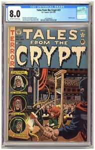 Tales From The Crypt 27 (CGC 8.0) Guillotine cover Davis Wood Orlando Feldstein