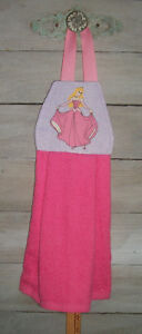 Sleeping Beauty Pink Ballgown Disney Hanging Finger Tip Powder Room Hand Towel