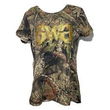 Girls With Guns Womens 1X Mossy Oak Camouflage Basic Short Sleeve Shirt Hunting