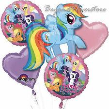 My Little Pony Dash Happy Birthday 5pc Mylar Bouquet Balloons Party Favor