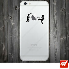Sticker Autocollant Apple Iphone 4 5 6  Lot de 2X - KICKBOXER BOXE COMBAT IPH43