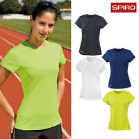 Spiro Women's Quick-Dry Short Sleeve T-Shirt (S253F) - Ladies Plain Casual Top