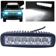 18W 6LEDs Slim Work Flood Light Bar Offroad Car Truck Jeep Boat ATV 4WD 12V/24V