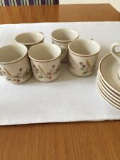Marks And Spencer Harvest Espresso Cups & Saucers x 6
