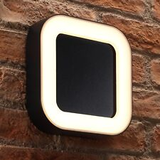 Auraglow Integrated 13w Warm White Garden Outdoor Modern LED Wall Light - Square