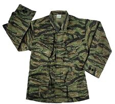 Vintage Style Vietnam War Fatigue Combat Shirt Tiger Stripe Camo Rothco 4621