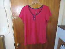 "Womens Mixit Size XL Short Sleeve Pink Top "" GREAT TOP """
