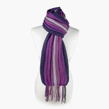 (Purple) Alpaca Wool Hand Knitted Unisex Scarf. Alpaca Scarf by INKITA