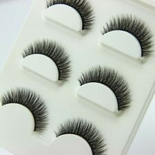15Pairs New Black Luxurious High Quality 100% Natural Cross Mink False Eyelashes