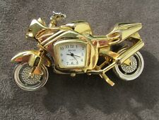 TIEMPO - MINIATURE MOTORCYCLE QUARTZ CLOCK - QUALITY MADE - JAPAN MOVEMENT.