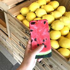 Summer Lifelike Watermelon Orange Kiwi Fruit Hard Case for iPhone 6s 7 8 Plus Peach for iPhone 6