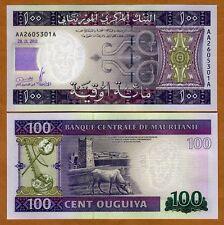 Mauritania, 100 Ouguiya, 2011, Pick 16 AA-A, UNC
