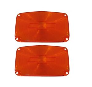 USA-Made! 1956 Chevy BelAirParking Light Lens w/ Bowtie, Amber New TrimParts