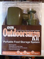 ZipVac Outdoorsman Kit - Portable Food Storage System - Rechargeable Resealable