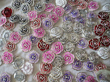 Joblot of 100 pcs Plastic Roses for Jewellery making & crafts - New wholesale