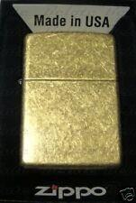 Zippo Antique Brass Lighter Model 201FB **NEW**