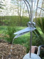 Wasserspeier 50cm Edelstahl Vogel , Steinvogel,Granitvogel V2A incl. Pumpe