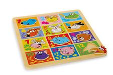 """Puzzle ad Incastro in Legno """"Animali della Fattoria"""" Giochi Bambini Motricità"""