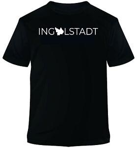 T-Shirt schwarz Aufdruck Ingolstadt T-Shirt XS S M L XL XXL neu
