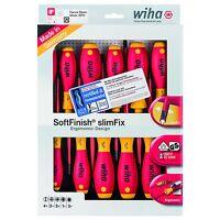 Screwdriver Set Slim Fix Electricians Tool Kit 12 Piece SoftFinish WIHA 41003