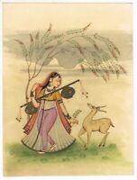 Yoga Yogini Ragini Handmade Indian Miniature Art Of Ragamala Handmade Painting
