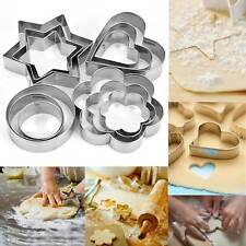 12X Stainless Steel  Metal Biscuit Star Cookie Cutter Pastry Baking Mold