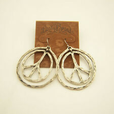 New Alloy Retro Lucky Brand Peace Earrings