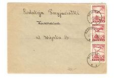 Polen Briefmarken Brief von 1950 Groszy Aufdruck Mi 431, 565