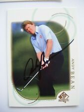 ANDY BEAN signed 2001 Upper Deck SP Authentic golf card AUTO FLORIDA GATORS 7 UD