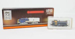 Z Scale Marklin 88601 F7A ATSF Blue Warbonnet w/ 5 Pole Motor, LEDs & Caboose