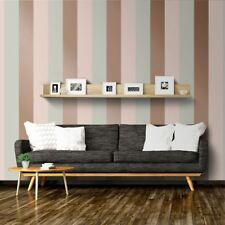 STRIPE WALLPAPER METALLIC - ROSE GOLD / GREY / PINK - E40903 DIRECT WALLPAPERS