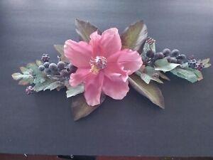 Mini Grape Magnolia Swag. Silk Flower Floral Arrangements MAUVE