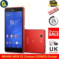 Sony Xperia Z3 Compact Z3 Compact D5803 - 16GB - Orange (Unlocked) Smartphone UK