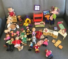 Lot Of  Wooden, Felt, Calico, Epoch, Other Misc Doll House Furniture Figures
