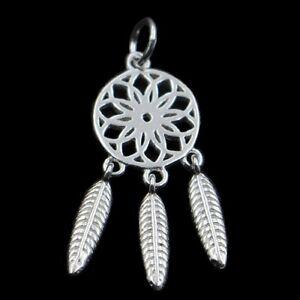 DREAM CATCHER-Dreamcatcher-925 Sterling silver pendant/charm/necklace-Chain opt.
