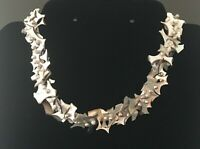 """Custom Vintage Choker 14"""" Pearl button Punch Necklace stunning gift F"""