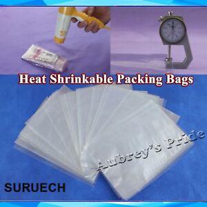 100PK Transparent Blow Molding PVC Heat Shrinkable Bags Film Wrap Cosmetic Pack