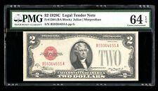 DBR 1928-C $2 Legal Fr. 1504 PMG 64 EPQ Serial B59364655A
