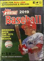 (3) 2019 Topps Heritage Baseball Hanger Boxes (35 cards/box)