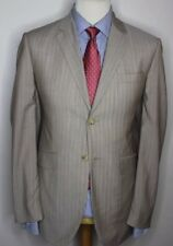 OZWALD BOATENG BESPOKE COUTURE LUXURY SUIT STRIPED BIEGE CORDS 40x32x34