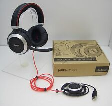Jabra EVOLVE 80 MS Microsoft Lync Stereo USB Wired PC Headset / Music Headphones