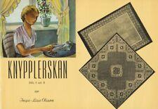 Knypplerskan Del I och Ii By Inga-Lisa Olsson1978 Stapled Sc Swedish Lace Making