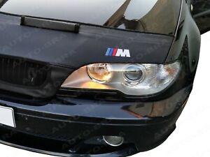 BONNET BRA fits BMW 3 E46 1998-2007 + M LOGO BADGE EMBLEM STONEGUARD PROTECTOR