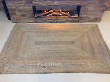 Natural 100% JUTE Reversible ECO FRIENDLY HEAVY CHUNKY Braided RUGS RUNNER XS-XL