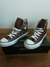d78fc26777667 Converse All Star Chuck Taylor Hi Chaussures baskets neuves Taille 35 marron